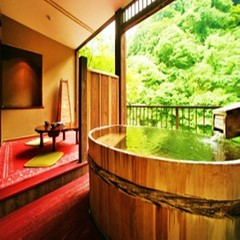 川側 源泉掛流し露天付客室 8畳+4.5畳 景観良好