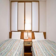 ◇エコノミーツイン◇禁煙◇【シングルルームにベッドが2つ】◇