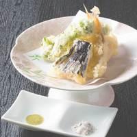 ◆熱々さくさく!海の幸・大地の恵◆季節野菜と旬魚の天ぷら懐石ぷらん◆