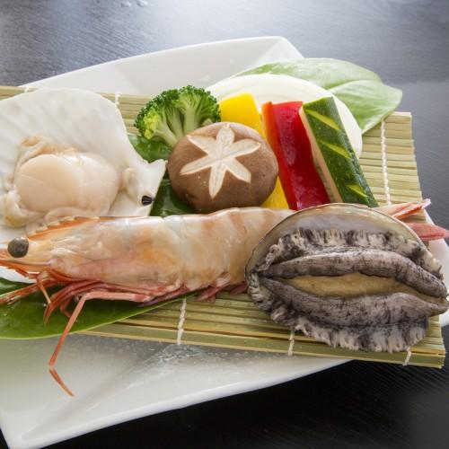 【贅沢海鮮焼き】大海老・ホタテ『海鮮会席』【貸切露天風呂無料】