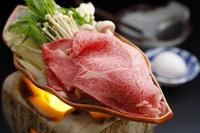 【山形牛すき焼き】頬がとろけそうな上質なお肉♪当日摘みたての山の幸や季節の郷土料理も堪能