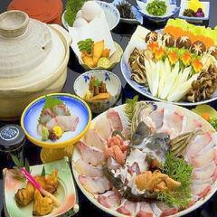 【幻の高級魚を食す旅☆】★極上の紀州本クエ鍋フルコース★くえ料理がたっぷり味わえる♪