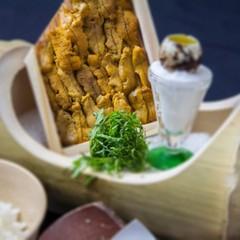 【贅沢満喫】見蘭牛陶板焼き+ウニ飯プラン