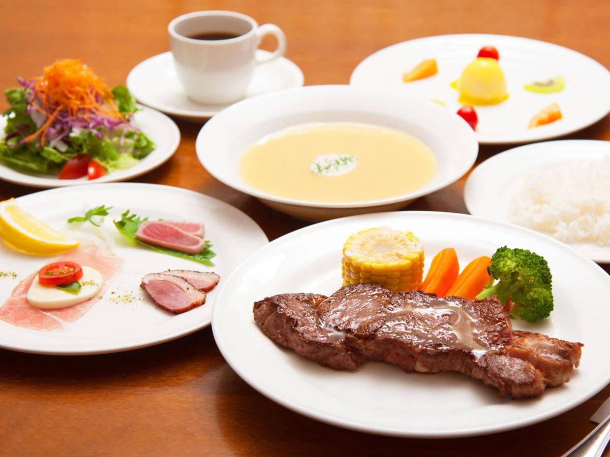 ディナーの道産牛ステーキが美味♪☆2食付きプラン