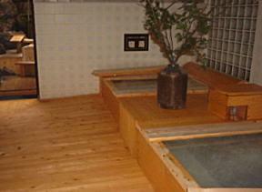 高原と乳白色濁り湯の温泉.和洋室のお部屋。