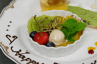 【1泊2食+記念日】記念日デザート付の1泊2食プランです★お名前・メッセージお入れします。