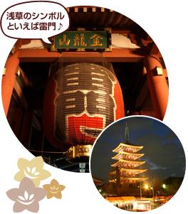 浅草のシンボル「雷門」