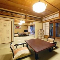 ◆お庭沿いのお部屋◆和室12畳+6畳+展望風呂◆