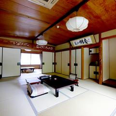 ◆大堰川沿いのお部屋◆和室12畳+6畳+展望風呂◆