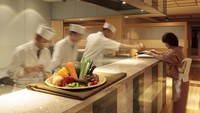 【食事処】いつもより贅沢な会席を半個室のテーブル席で/秋の特別御膳★★☆<湯の里>