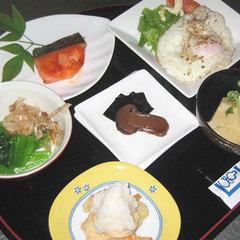 朝は出来たての和朝食を♪お風呂は24時間利用ok!朝食付プラン