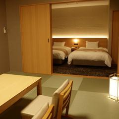 客室温泉内風呂付◆新館・特別和洋室<ツイン+10〜12畳>