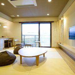 琉球畳のモダン和室34平米〜42平米【千鳥】【禁煙】