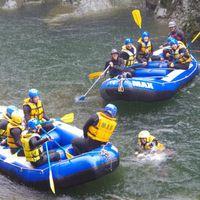 【ラフティング半日体験付】水しぶきを上げて最高の川遊びを利根川の源流で楽しもう!1泊2食付