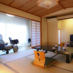 畳にお布団でゆったり☆マッサージチェア付き客室(川沿い)