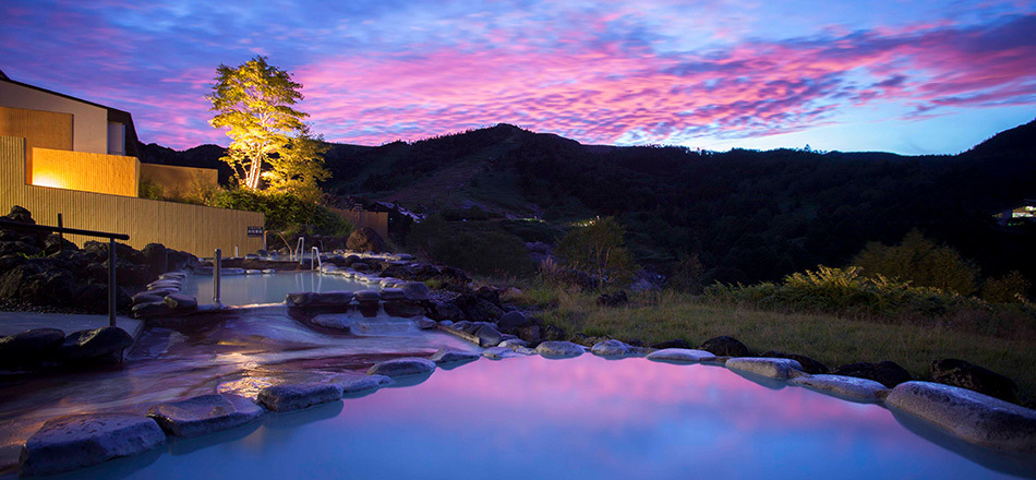 絶景景露天風呂こまくさの湯
