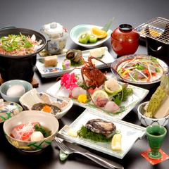 【朝夕ダイニング食】人気海鮮!鮑・伊勢海老・金目鯛がお一人様ひとつずつ!満海膳プラン