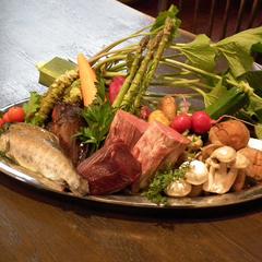 ★お食事グレードアップ★量より質重視のオリジナル料理に舌鼓