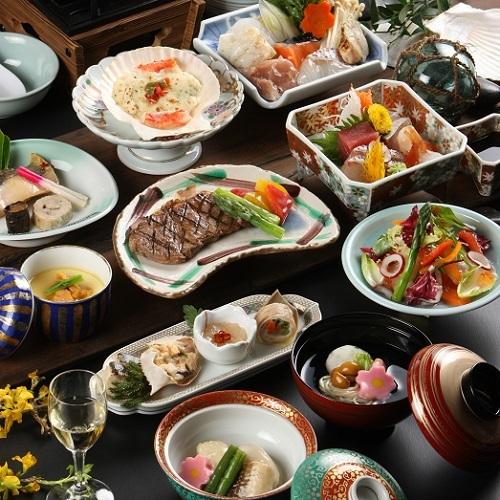【楽パック】【夕食は個室でプチ贅沢】料理長こだわりのヘルシー膳★瑠璃膳プラン