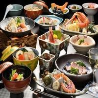 【夕食は個室でプチ贅沢】お湯自慢、笹井源泉と料理長こだわりのヘルシー膳「瑠璃の膳」