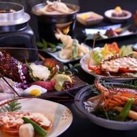 ◆夕食も朝食も個室確約で安心◆メイン食材お好みチョイスプラン【伊勢海老または鮑】