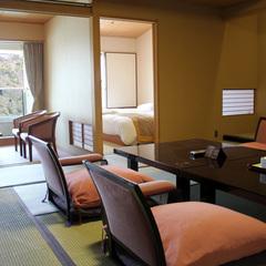 【浜名湖ビュー】ツイン+12.5帖和室【禁煙部屋】/夕食個室