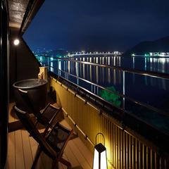 【温泉◆露天風呂付客室】河口湖を望む和洋室(78平米)