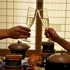 【記念日】お祝い花束&ケーキ付 お祝いプラン〜記念日やお誕生日などを、ご夫婦、カップルで〜
