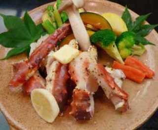 ご夕食を豪華に!タラバ蟹陶板焼プラン