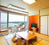 【禁煙】◆絶景!海側 全面窓◆別府湾一望の南館 和室10畳