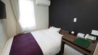 ◆お部屋は狭いがダブルベッドで快適睡眠シングルルーム◆禁煙