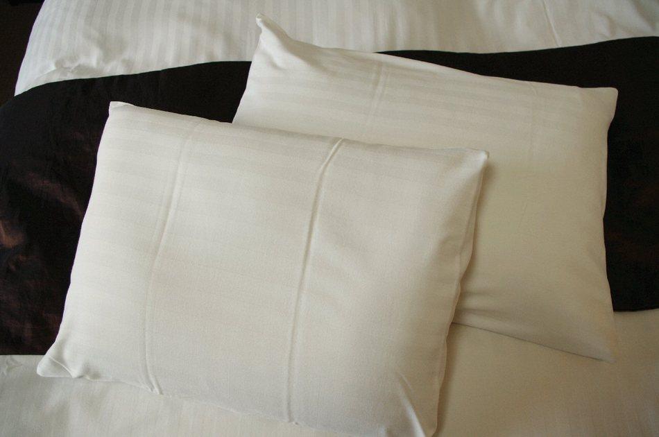 低反発枕と羽根枕