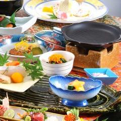 【1日10組・平日限定】お食事は個室処でゆったりと・・・食事も温泉もたっぷり満喫♪◆2食付き
