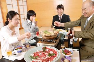 「かじか荘名物」天然猪肉使用「ぼたん鍋」プラン
