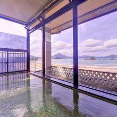海眺望客室で食す。海の幸会席★絶景展望風呂も堪能!
