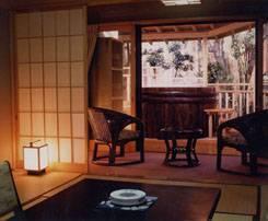 白浜館で1日1室のみ1番豪華な梅樽の露天風呂付き特別和室