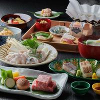 【12〜2月】河豚てっちり鍋など、冬の味覚に神戸牛ステーキを加えたお料理コース〈特選懐石〉