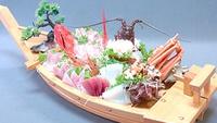 【料理グレードアップ】地魚のお刺身+金目鯛の姿煮付!
