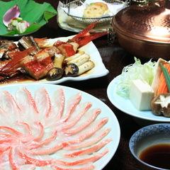 [ちょっと贅沢な夕膳]稀少トロ金目鯛〜伊豆産金目の肉厚しゃぶしゃぶ&ふわふわ煮付懐石