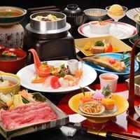 ■春風-Harukaze-春■ 山形牛と山菜の柳川鍋・ジャンボマッシュ香味焼♪【部屋食スタンダード】