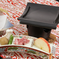 【信州牛懐石プラン/個室食】りんごで育った柔らか「信州牛」を瓦焼きで愉しむ<懐石料理>