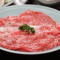 【四季味わい懐石+黒毛和牛しゃぶしゃぶプラン】 お口でとろけるやわらか和牛を特製ダレでいただきます。