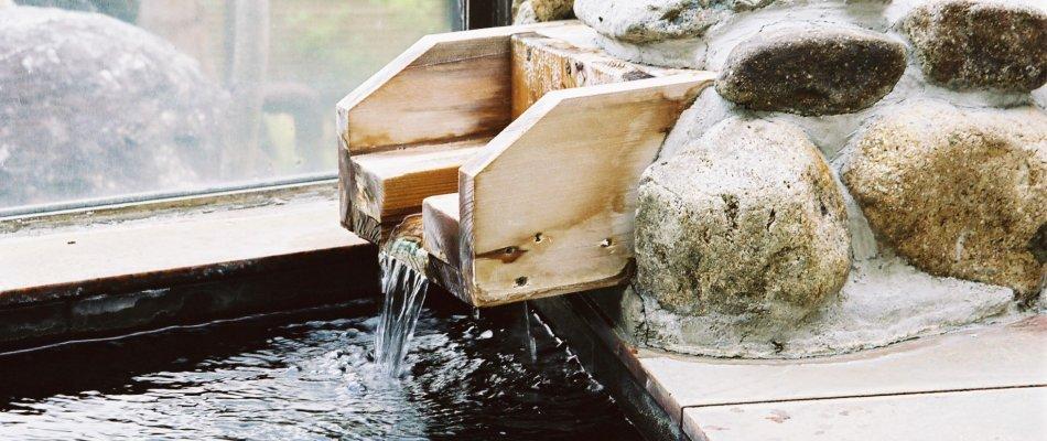 かけ流しの湯