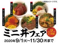 ≪9〜11月限定≫食欲の秋!【ミニ丼フェア】創作和食膳プラン