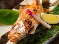 【GoTo対象】 幻の高級魚「のど黒」&「若狭牛」付  海鮮プラン