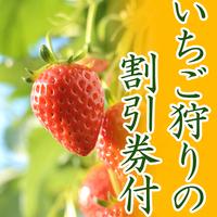 【割引券付!】あま〜いイチゴが食べ放題♪スタンダードプラン【1泊2食付】