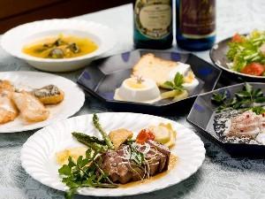 お魚とお肉の豪華フルコースプラン♪【防波堤釣り・マリンレジャーにお勧め!】
