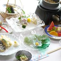 【2食付/豪華】|全9品 あゆ料理メイン|夕食グレードアップ!新鮮な鮎のお刺身付◎