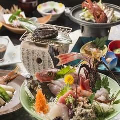 ◆時には贅沢♪【専用個室】地魚姿造りと伊勢海老&鮑&牛ステーキ☆特選御膳♪