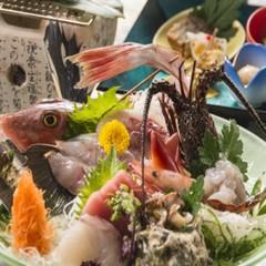 ★お刺身満喫!地魚姿盛りと伊勢海老、鮑の踊り焼き、金目鯛姿煮付 和食ダイニングプラン♪